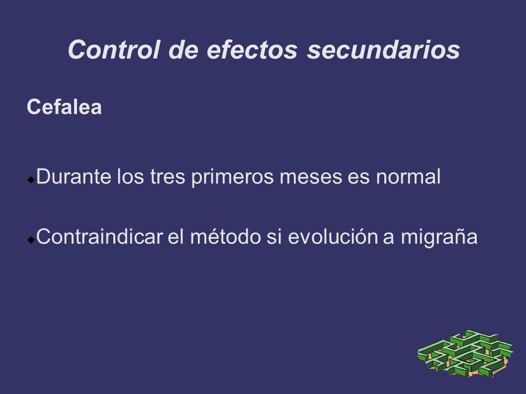 Control de efectos secundarios