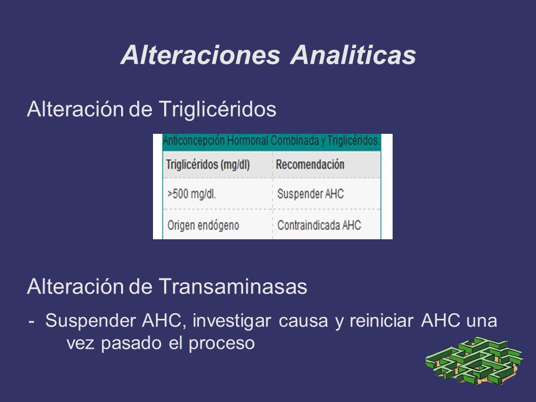 Alteraciones Analiticas