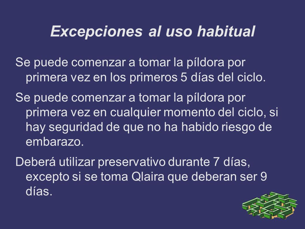 Excepciones al uso habitual