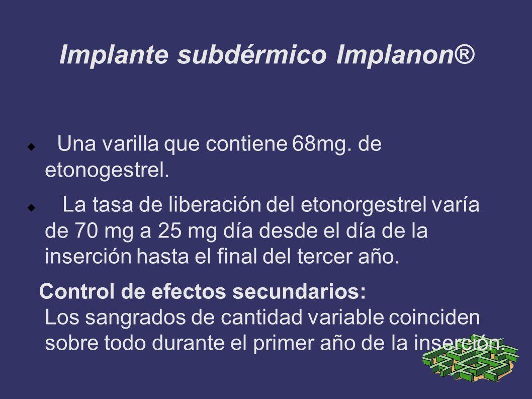 Implante subdérmico Implanon®