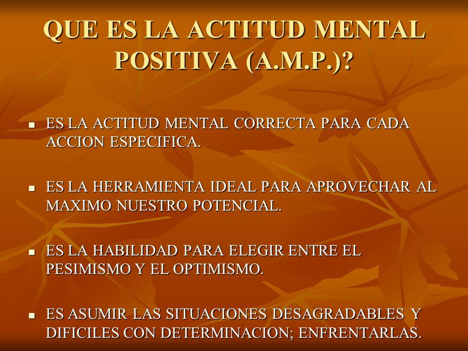 QUE ES LA ACTITUD MENTAL POSITIVA (A.M.P.)