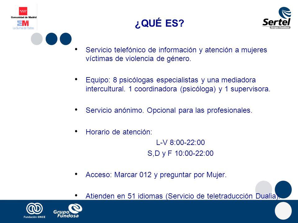 ¿QUÉ ES Servicio telefónico de información y atención a mujeres víctimas de violencia de género.