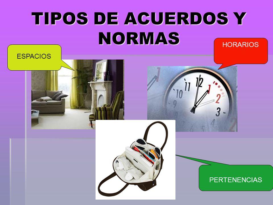 TIPOS DE ACUERDOS Y NORMAS
