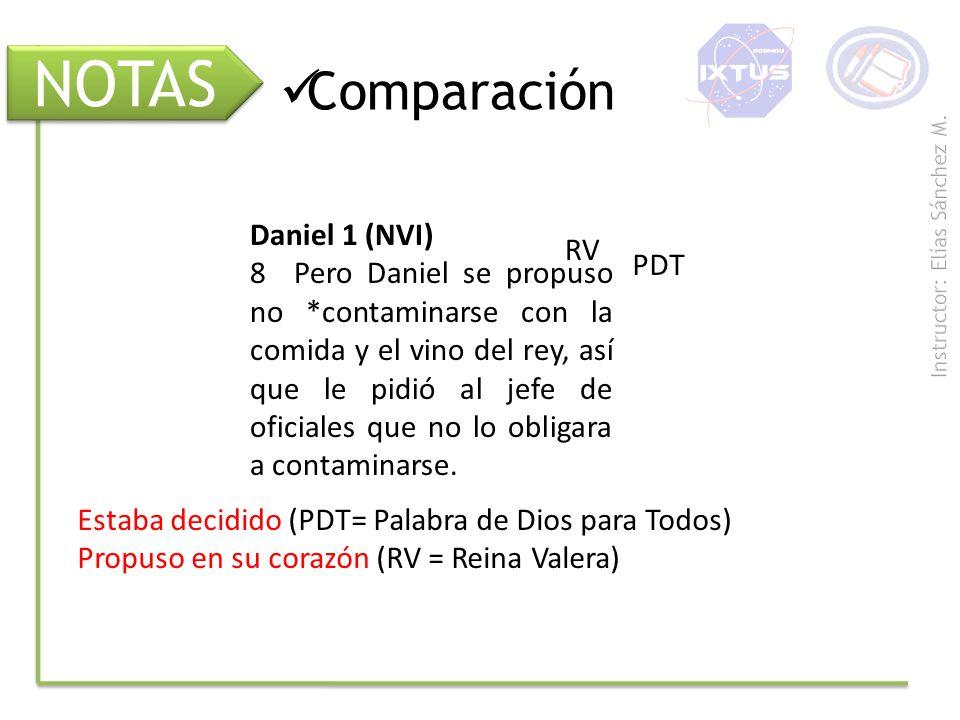 NOTAS Comparación Daniel 1 (NVI) RV