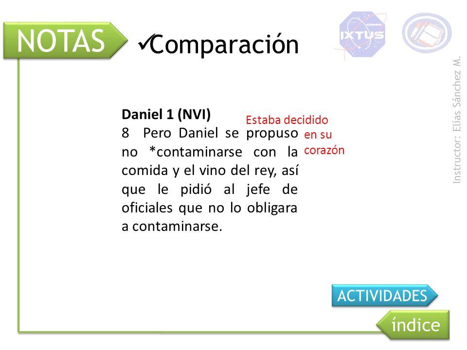 NOTAS Comparación índice Daniel 1 (NVI)