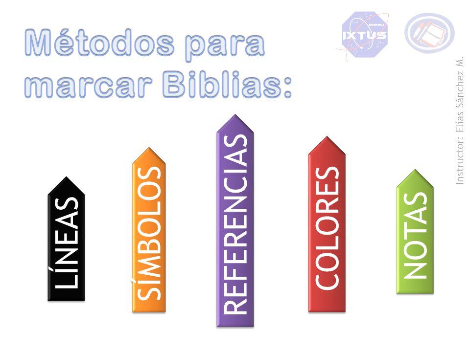 Métodos para marcar Biblias: