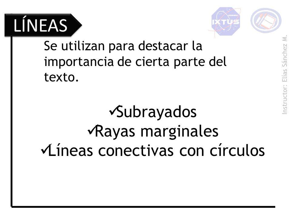 Líneas conectivas con círculos