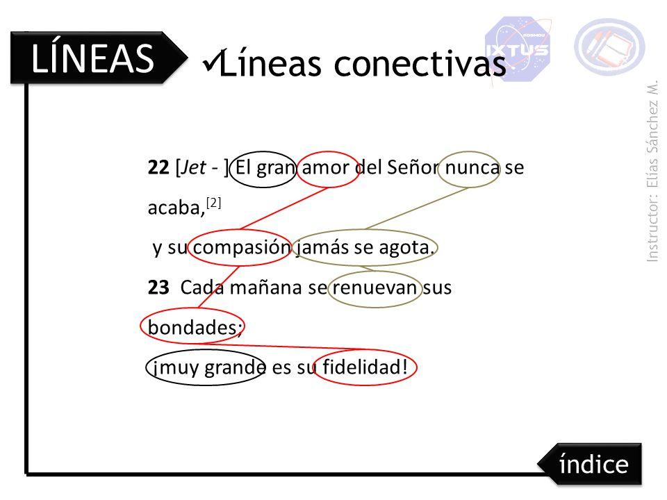 LÍNEAS Líneas conectivas índice