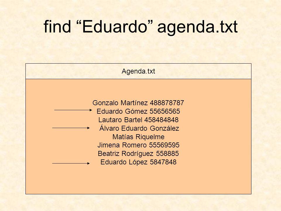 find Eduardo agenda.txt