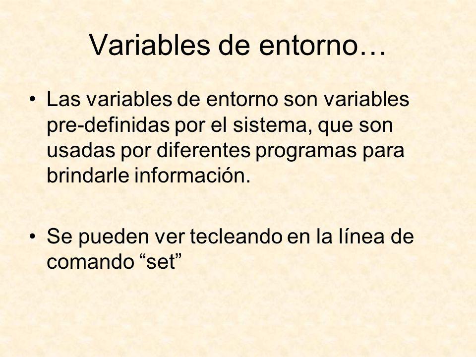 Variables de entorno…