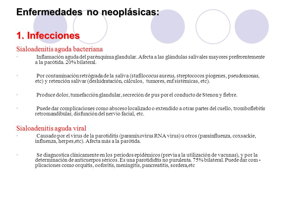 Enfermedades no neoplásicas: 1. Infecciones