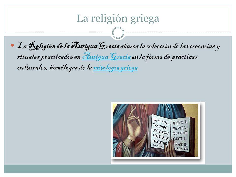 La religión griega