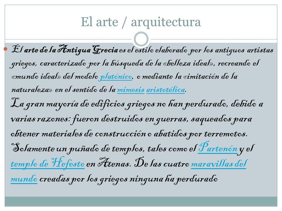 El arte / arquitectura