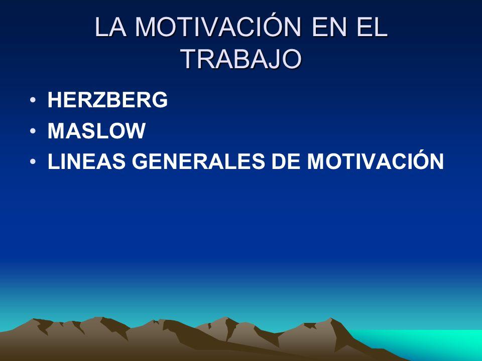 LA MOTIVACIÓN EN EL TRABAJO