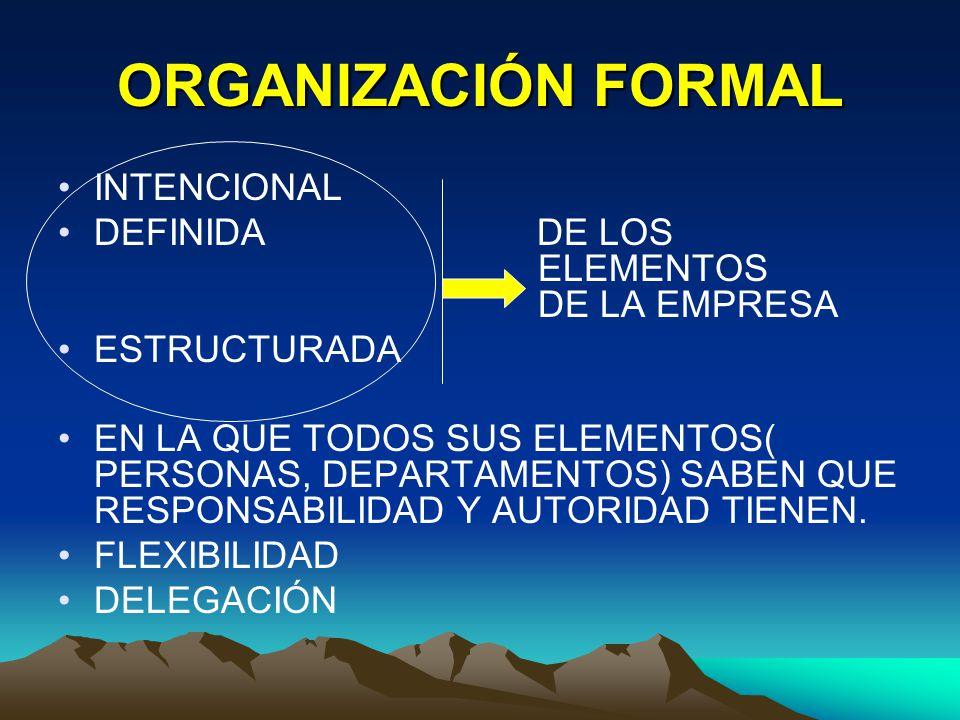 ORGANIZACIÓN FORMAL INTENCIONAL