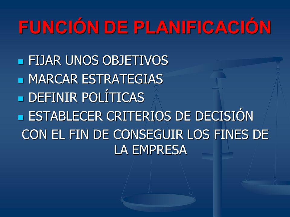 FUNCIÓN DE PLANIFICACIÓN