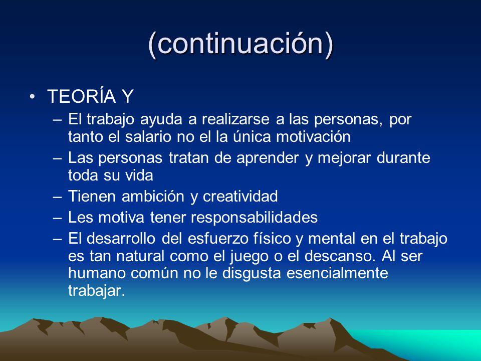 (continuación) TEORÍA Y