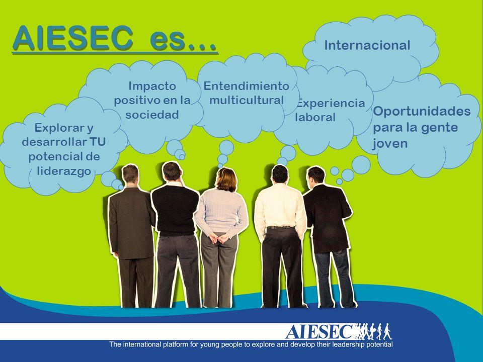 AIESEC es… Internacional Oportunidades para la gente joven