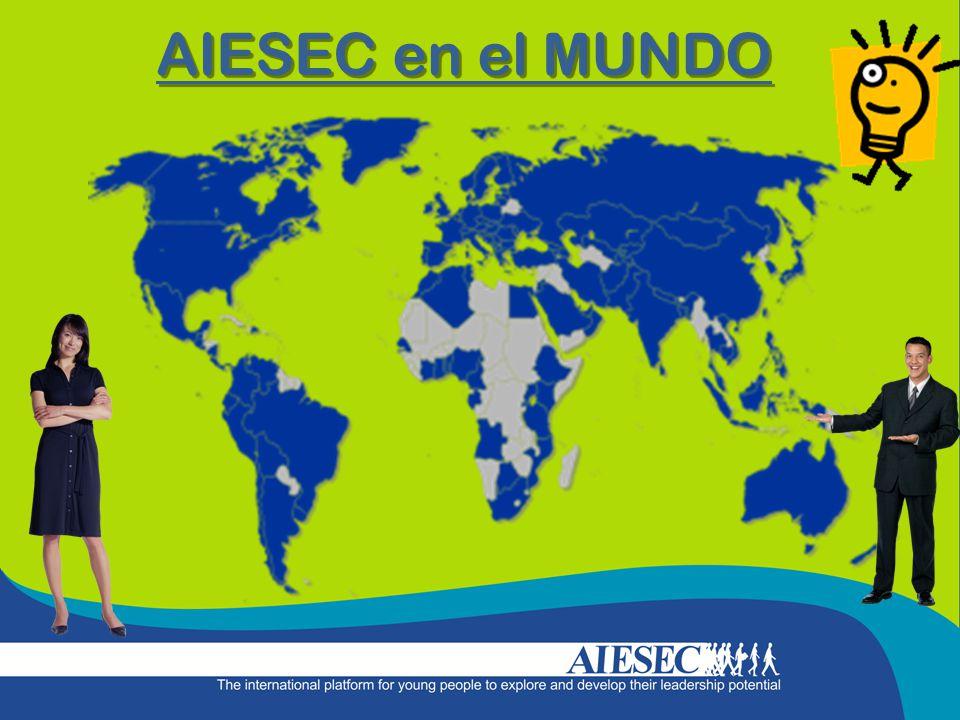 AIESEC en el MUNDO 111 países y territorios 50,000 miembros