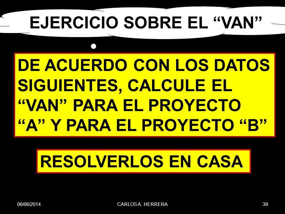 EJERCICIO SOBRE EL VAN