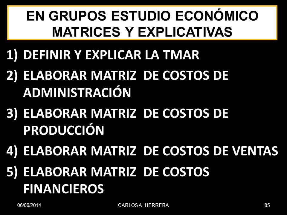 EN GRUPOS ESTUDIO ECONÓMICO MATRICES Y EXPLICATIVAS