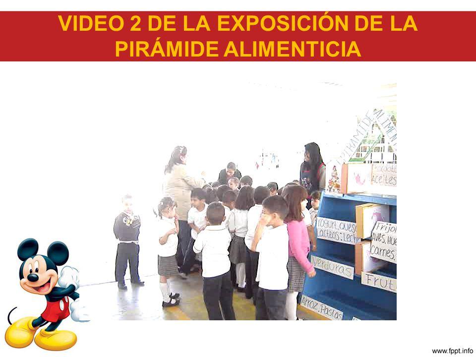 VIDEO 2 DE LA EXPOSICIÓN DE LA PIRÁMIDE ALIMENTICIA