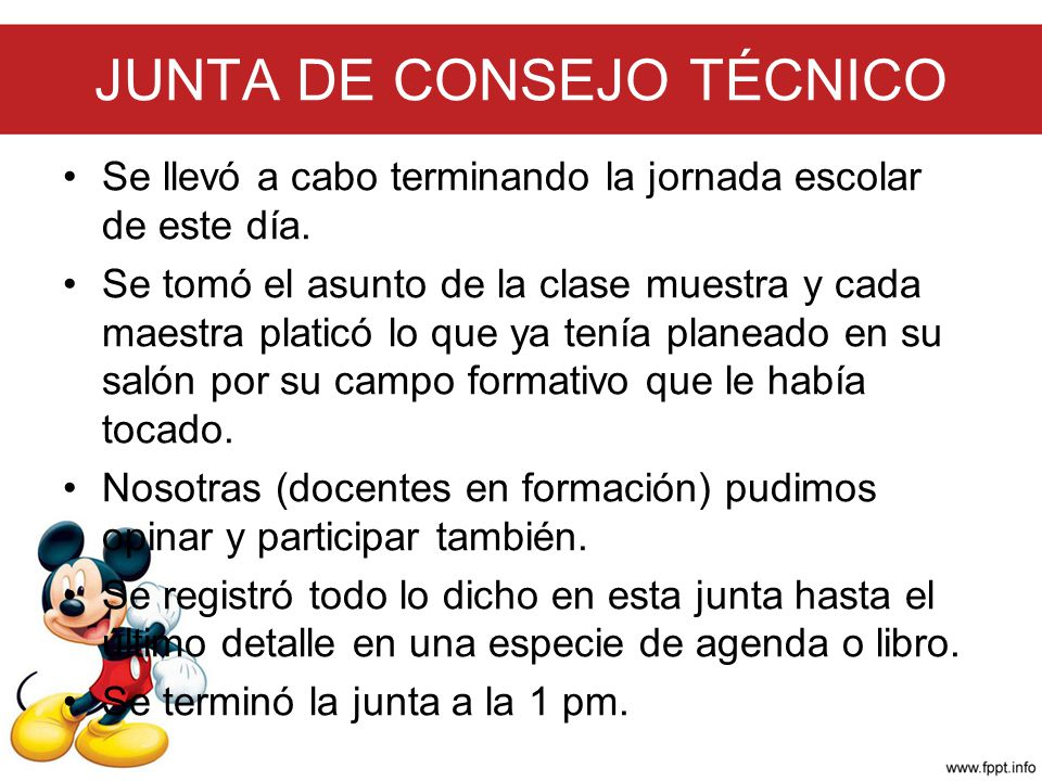 JUNTA DE CONSEJO TÉCNICO
