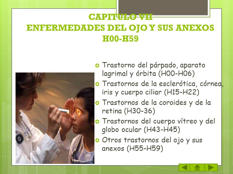 CAPITULO VII ENFERMEDADES DEL OJO Y SUS ANEXOS H00-H59