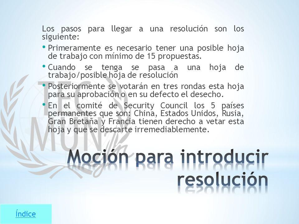 Moción para introducir resolución