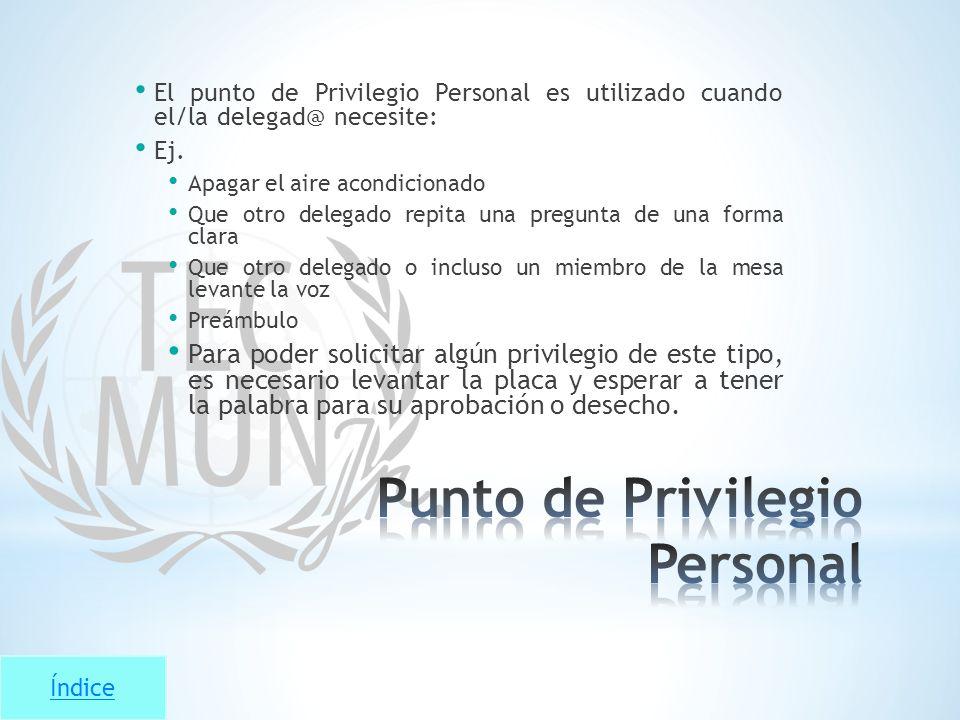 Punto de Privilegio Personal