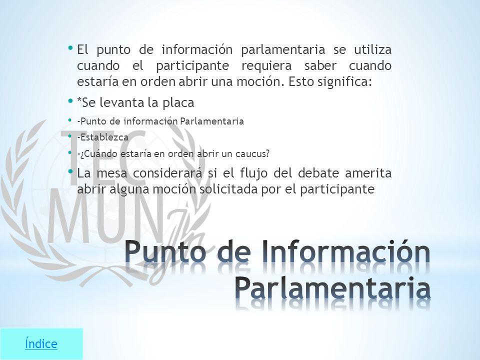 Punto de Información Parlamentaria