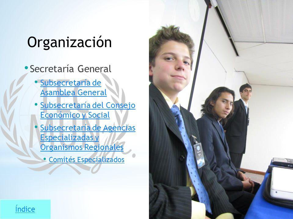 Protocolo Organización Secretaría General