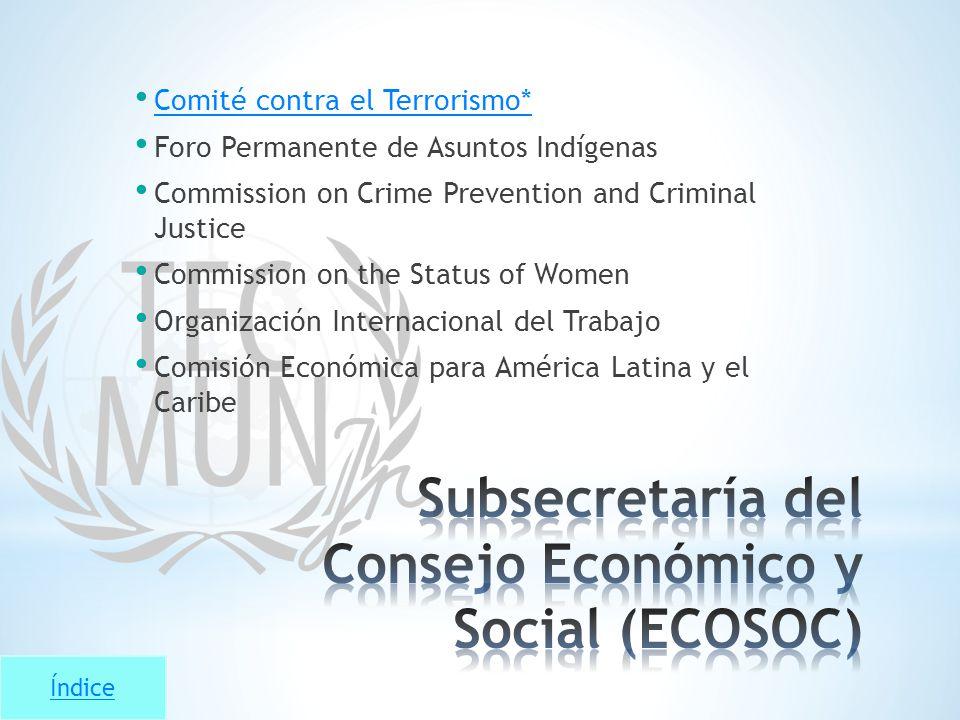Subsecretaría del Consejo Económico y Social (ECOSOC)