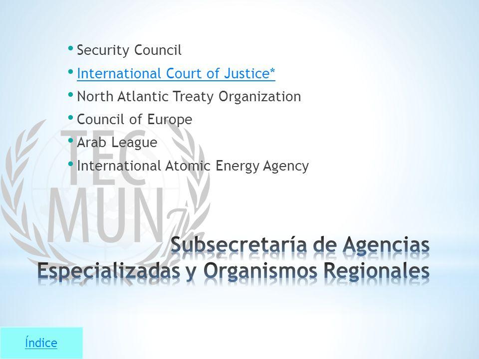 Subsecretaría de Agencias Especializadas y Organismos Regionales