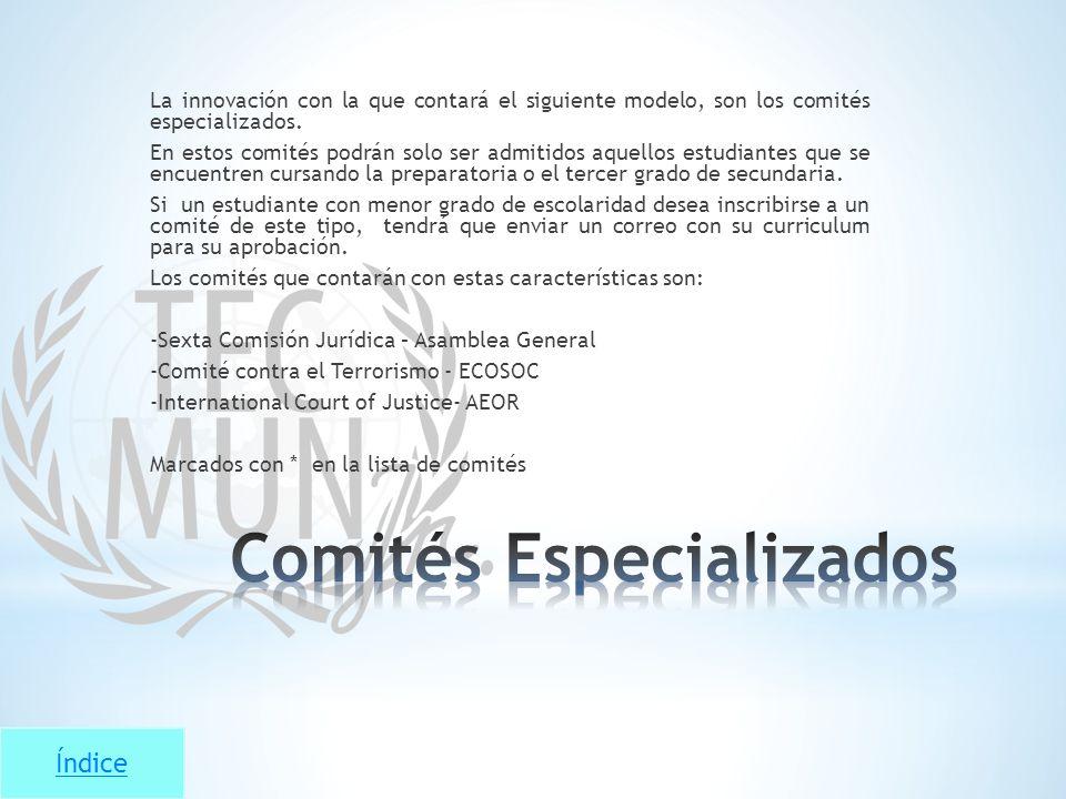 Comités Especializados