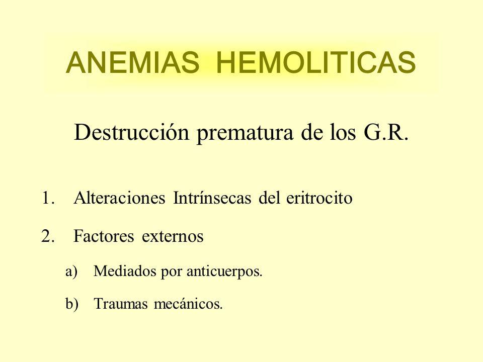 Destrucción prematura de los G.R.