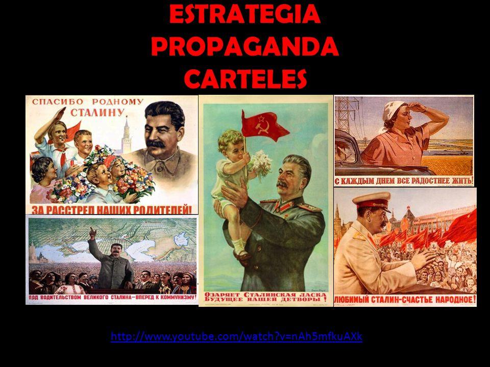 ESTRATEGIA PROPAGANDA CARTELES