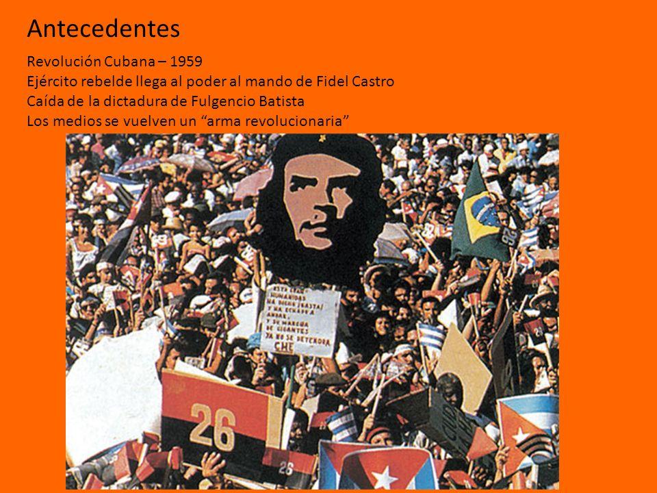 Antecedentes Revolución Cubana – 1959