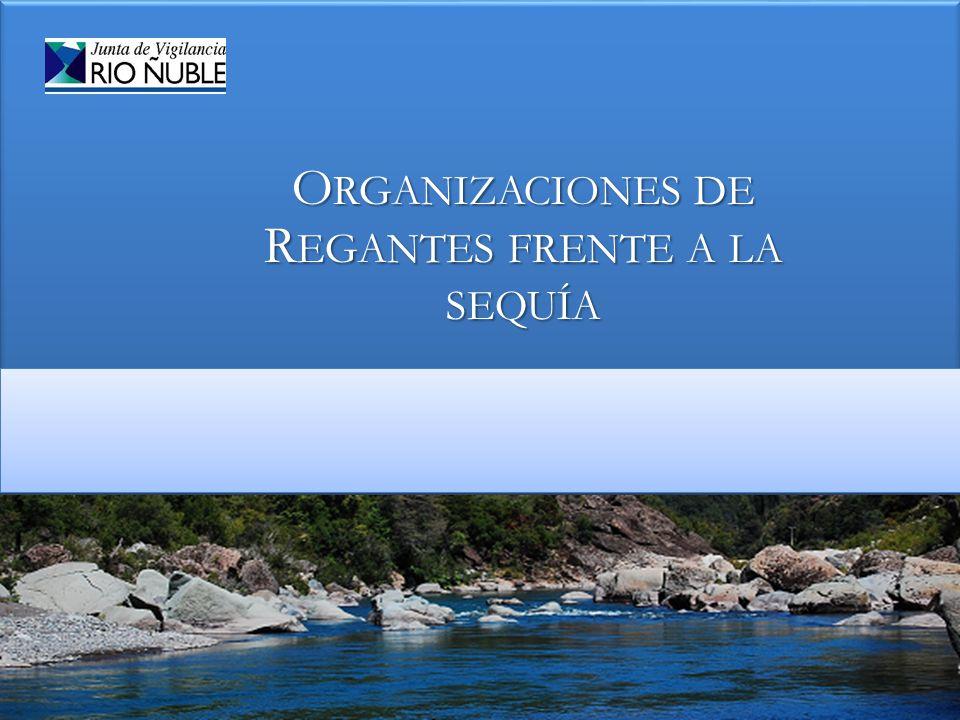 Organizaciones de Regantes frente a la sequía