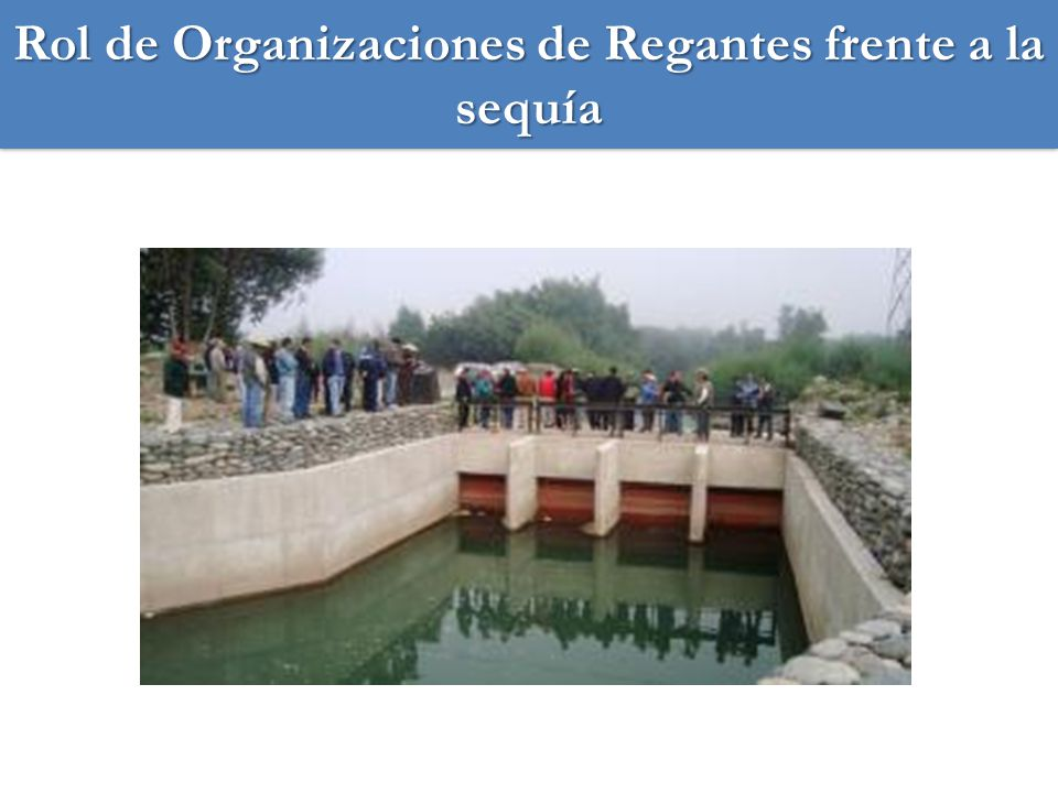 Rol de Organizaciones de Regantes frente a la sequía