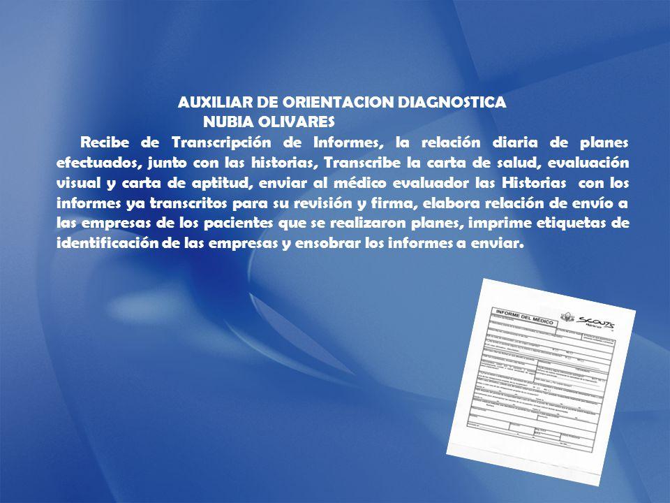 AUXILIAR DE ORIENTACION DIAGNOSTICA