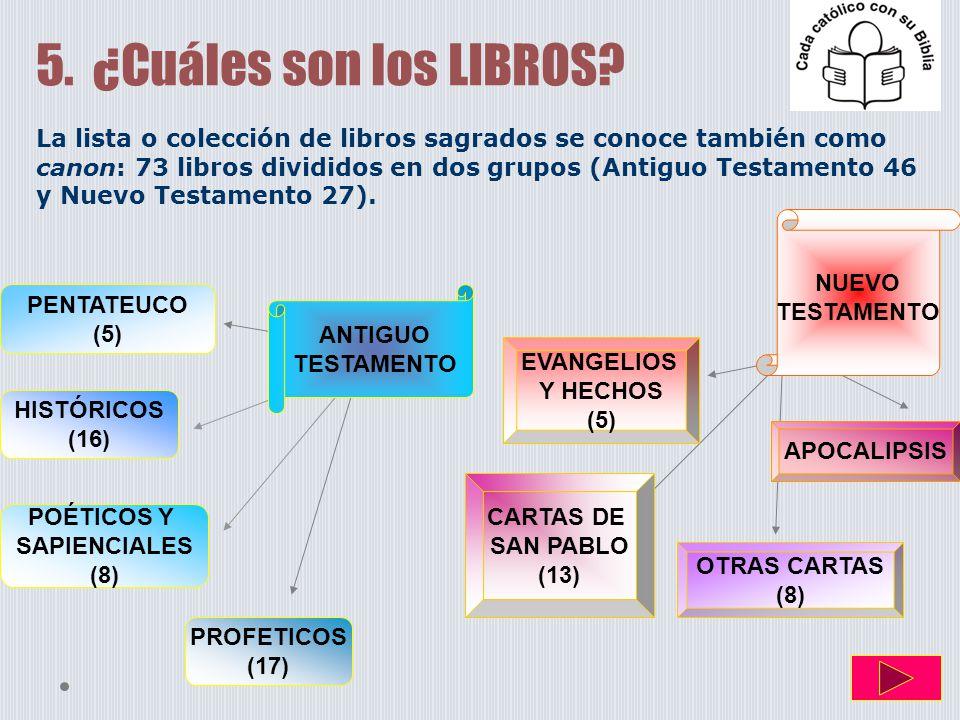 5. ¿Cuáles son los LIBROS