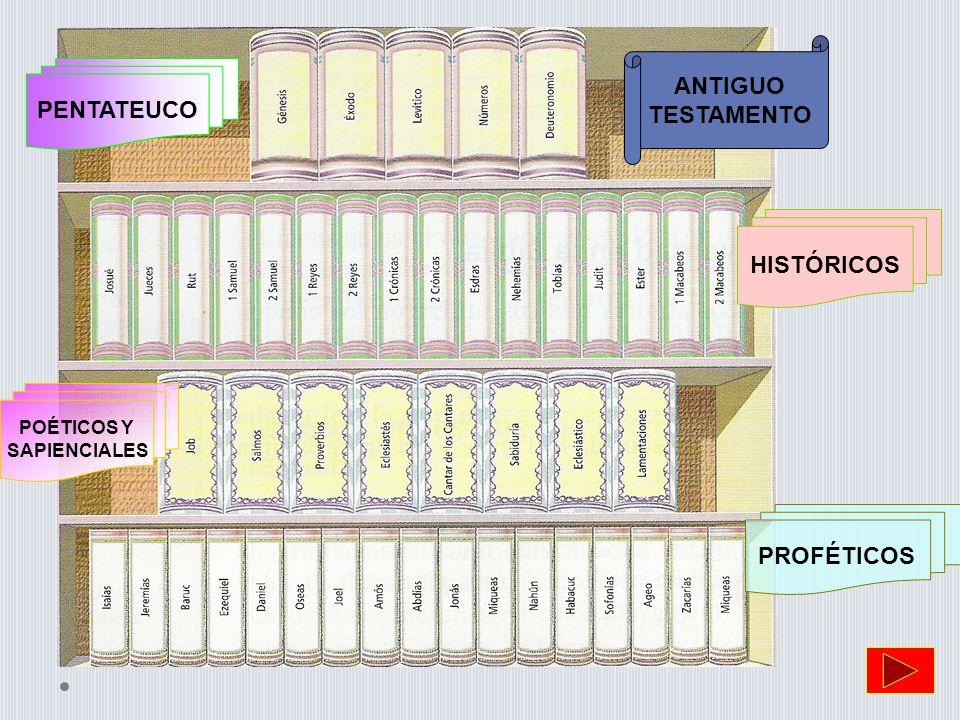 ANTIGUO TESTAMENTO PENTATEUCO HISTÓRICOS PROFÉTICOS