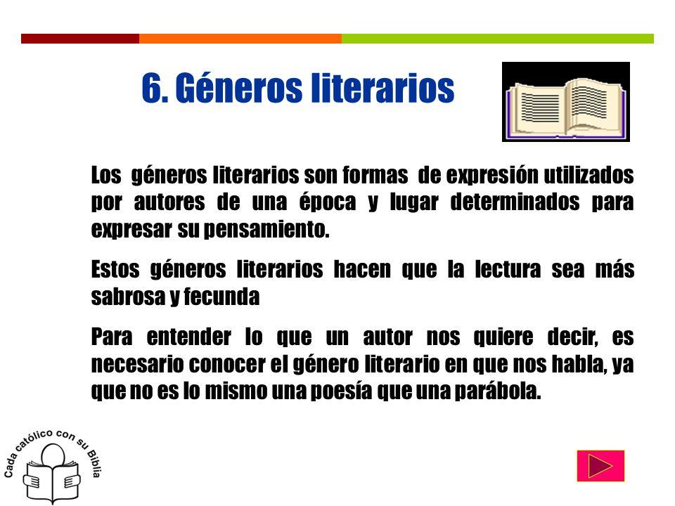6. Géneros literarios