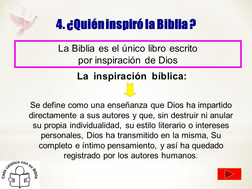 4. ¿Quién inspiró la Biblia