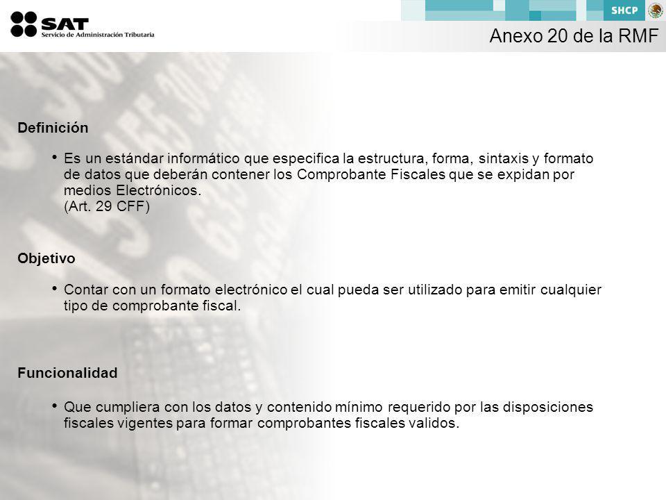Anexo 20 de la RMF Definición