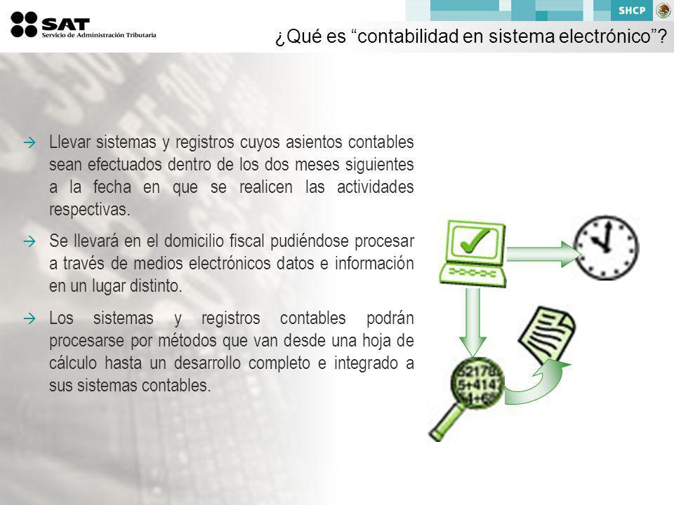 ¿Qué es contabilidad en sistema electrónico