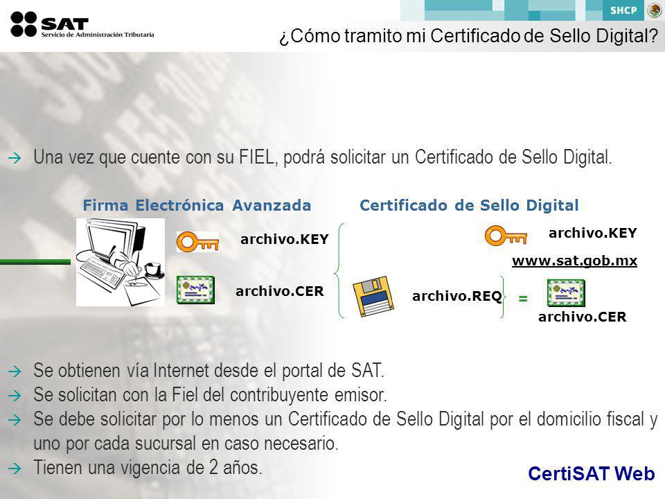 ¿Cómo tramito mi Certificado de Sello Digital