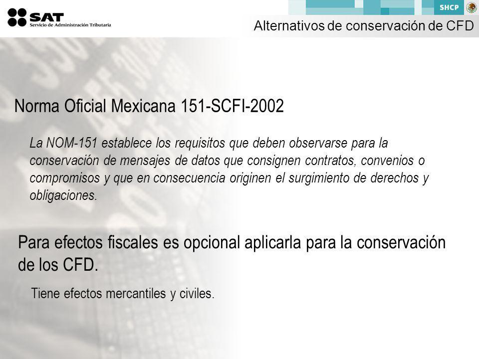 Norma Oficial Mexicana 151-SCFI-2002