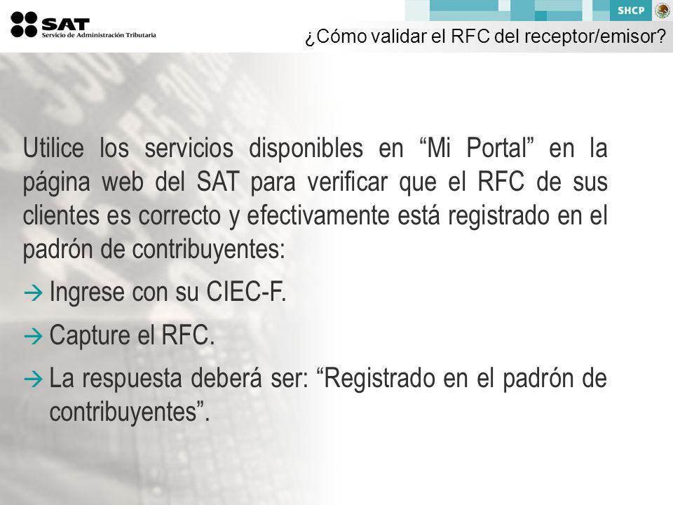 ¿Cómo validar el RFC del receptor/emisor